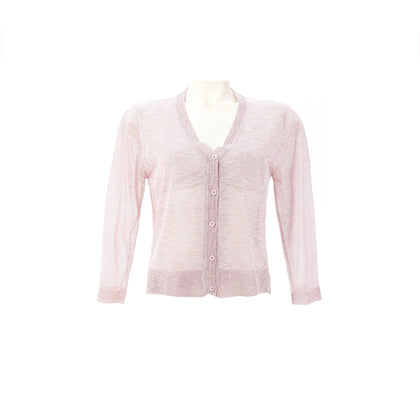 Tune Up Lacy Knitewear Cardigan - Pink