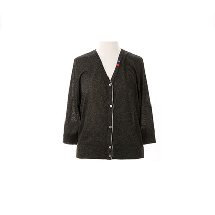 Tune Up Gilttery Knit Cardigan - Black
