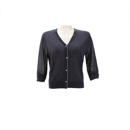Tune Up Gilttery Knit Cardigan - Navy Blue