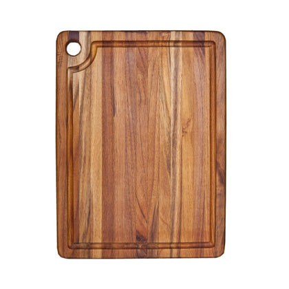Teakhaus Corner Hole Cutting/Serving Board with Juice Groove (46 x 35.5 x 1.9 cm / 18 x 14 x 0.75 inch)