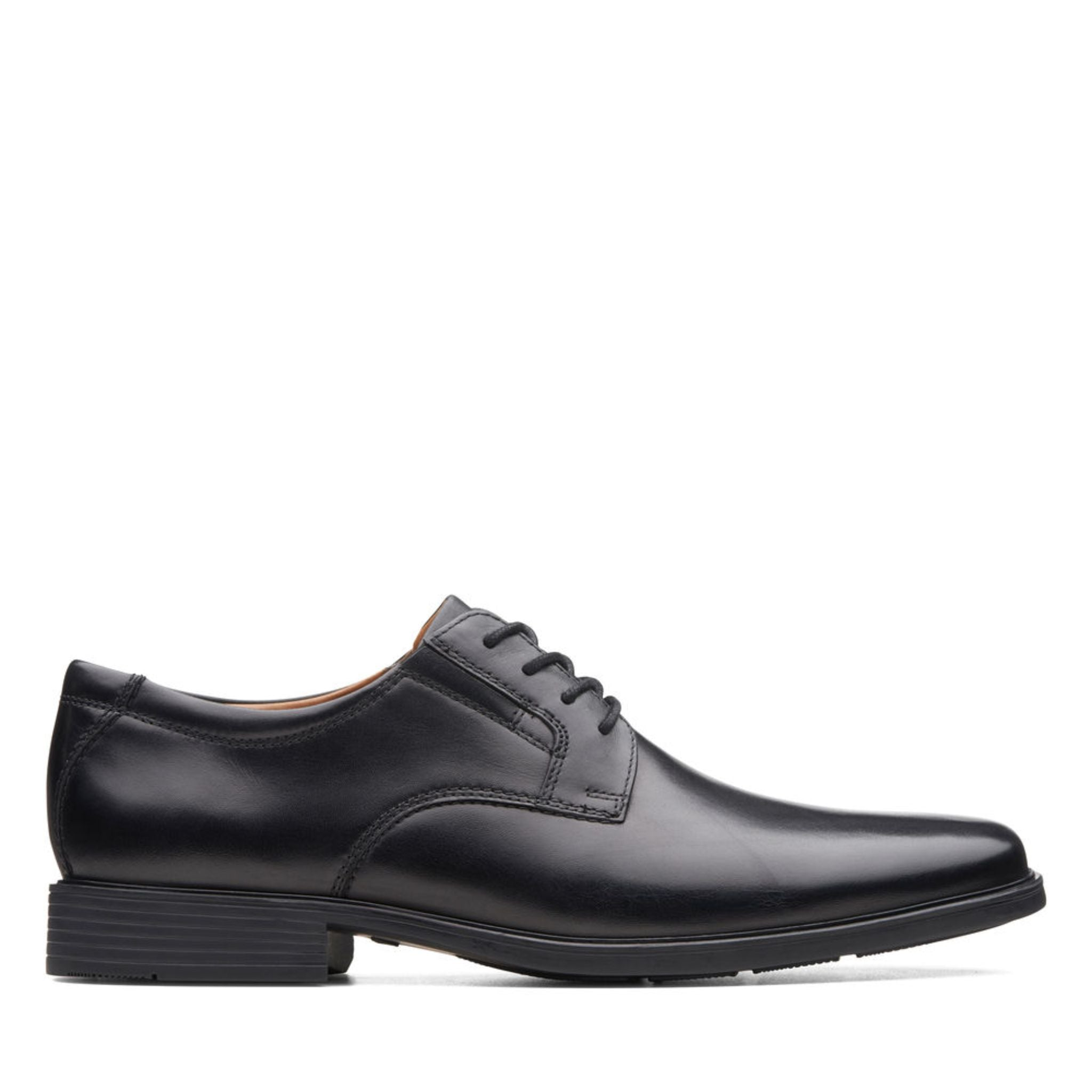 Clarks Tilden Plain - Black Leather