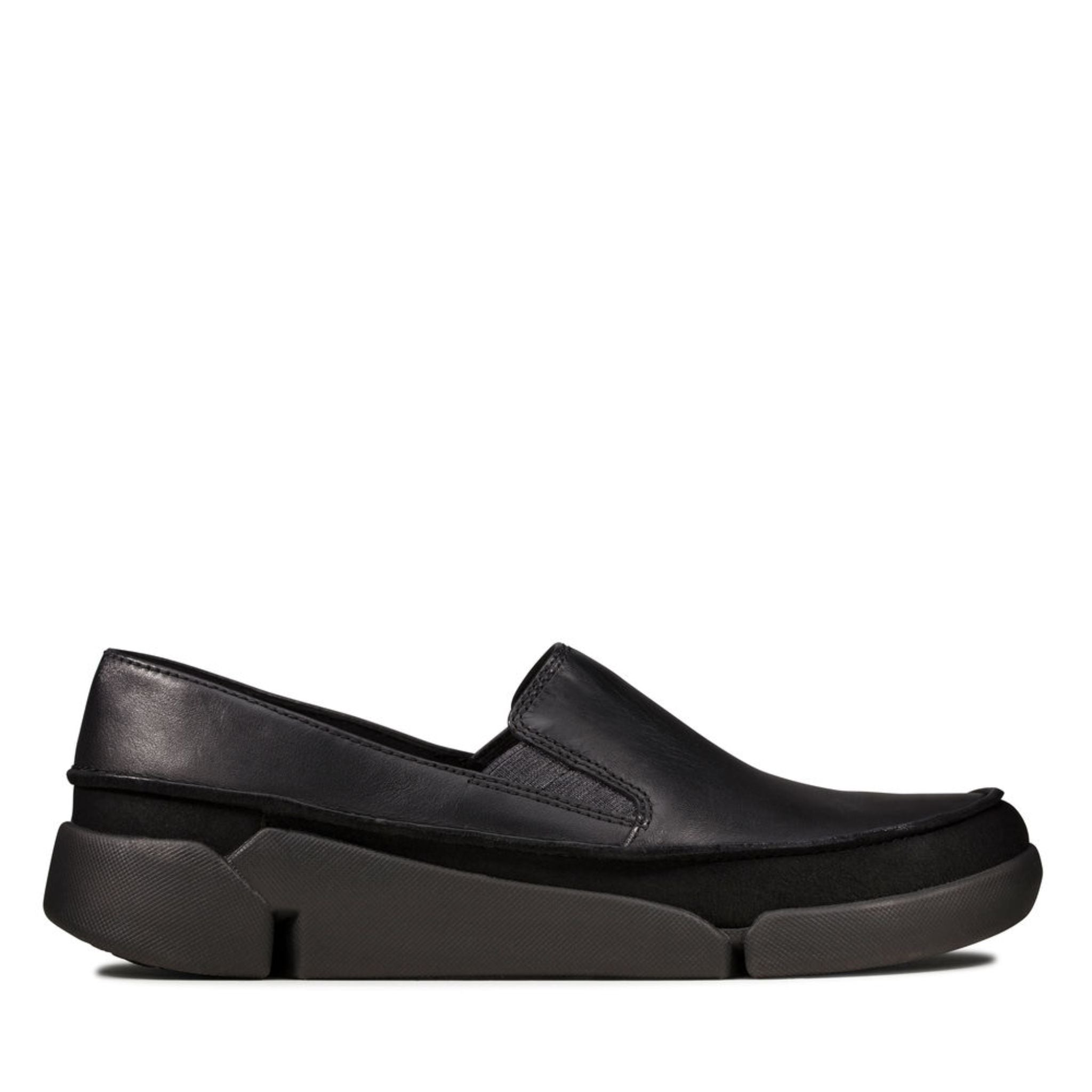Clarks Tri Step Black Leather