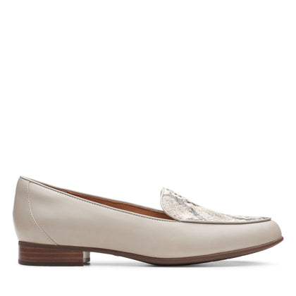 Clarks Un Blush Ease Stone Leather/Snake Combination