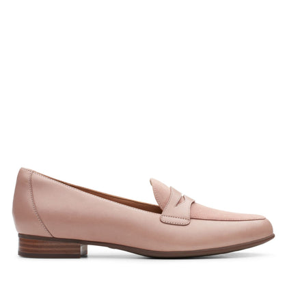 Clarks Un Blush Go Dusty Pink Leather/ Suede Combi