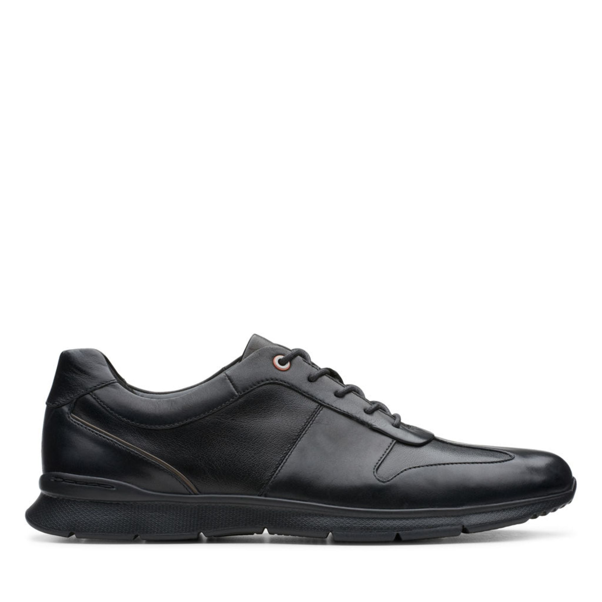 Clarks Un Tynamo Tie - Black Leather