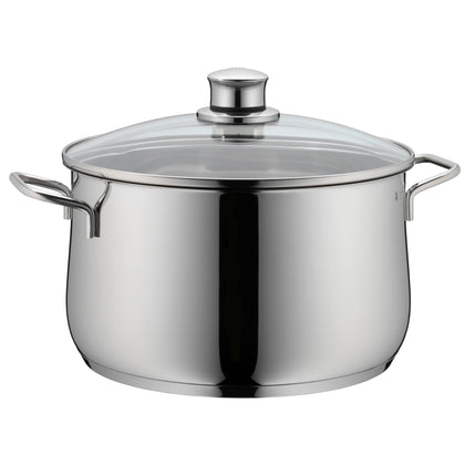 WMF Diadem Plus High Casserole with Glass Lid