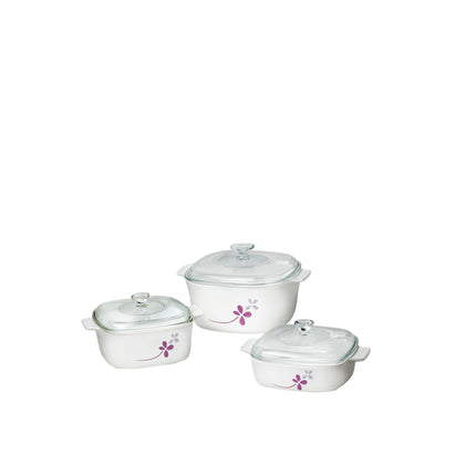 CorningWare 6pc Casserole Set - Warm Pansies