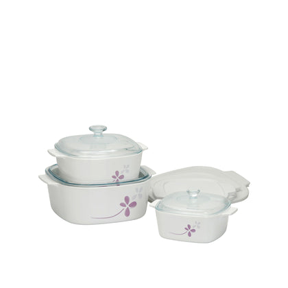 CorningWare 9pc Casserole Set - Warm Pansies