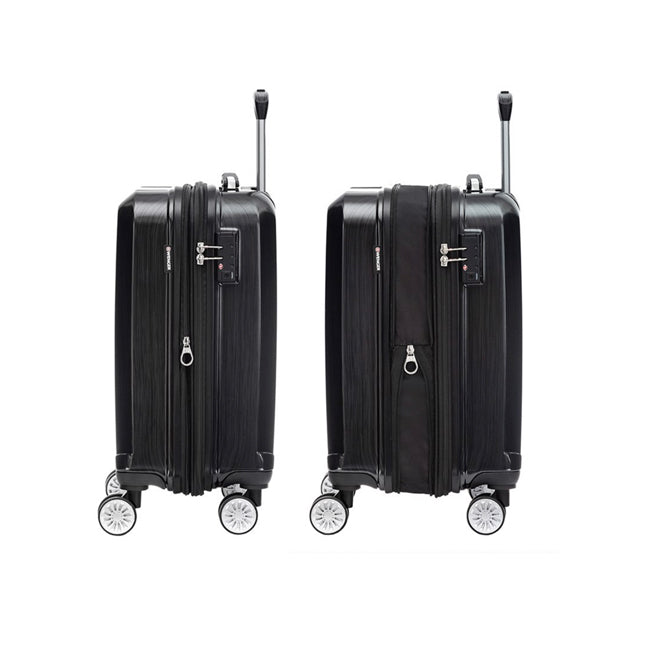 "Wenger ABS + PC 4 Double Wheel Expandable Trolley Case 28"" - Black"