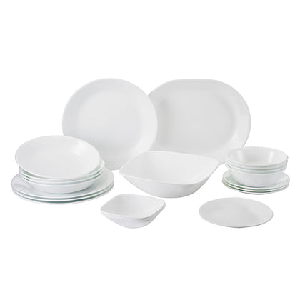 Corelle 20pc Square Round Dinner Set - Winter Frost White