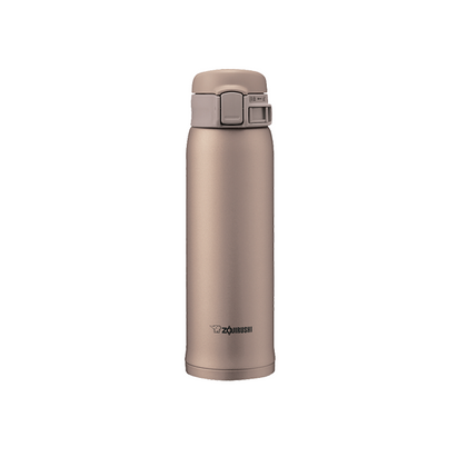 Zojirushi 0.6L Stainless Steel One-Push Vacuum Bottle - Beige Gold
