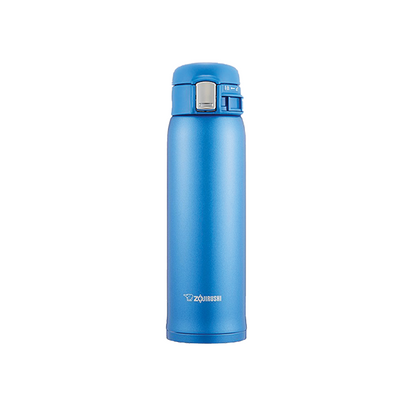 Zojirushi 0.6L Stainless Steel One-Push Vacuum Bottle - Blue
