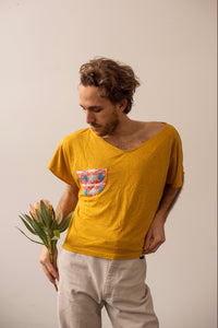 Short Shirt in Gold - Nicholas For The People