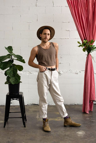 Crop Tank in Clay - Nicholas For The People