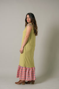 Long Dress in Palm - Nicholas For The People