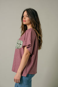 Short Shirt in Plum - Nicholas For The People