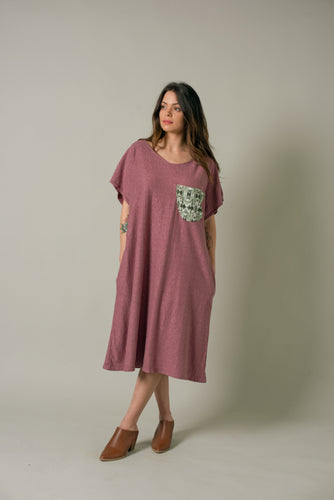 Long Shirt in Plum - Nicholas For The People