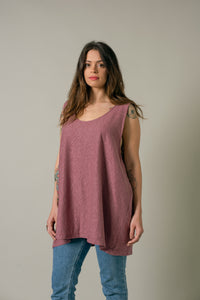 Dad Tank in Plum - Nicholas For The People