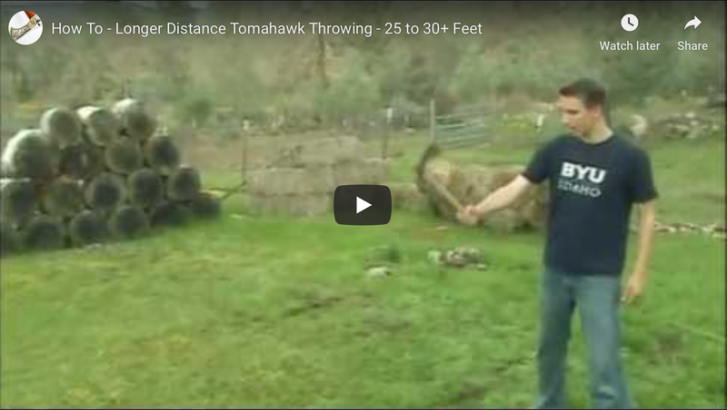 Long Distance Tomahawk Throwing - 25 to 30+ Feet
