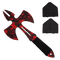 Red Skull Medieval Style Throwing Axe