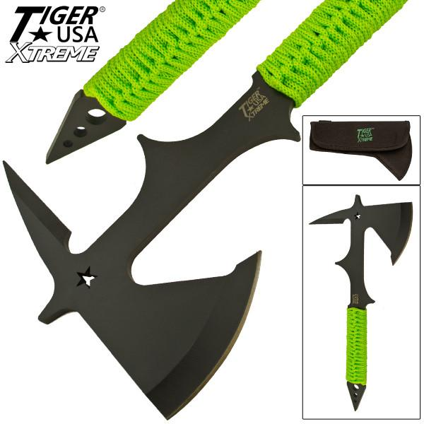 Tiger USA Xtreme Thrower Tactical Axe With Survival Paracord