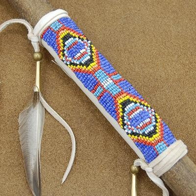 Genuine buckskin leather with seed bead work