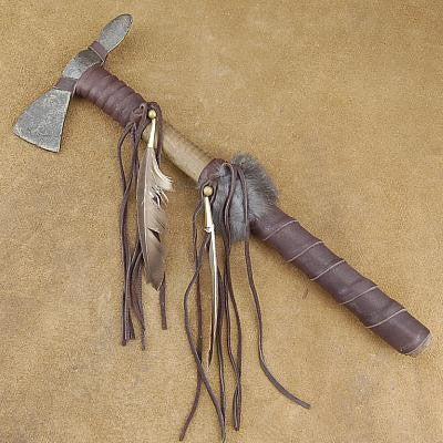 Native American Buckskin Warrior Tomahawk