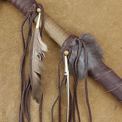 Genuine Buckskin Leather, Feathers, and Fur