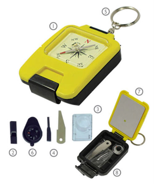 8 in 1 Survival Compass Kit
