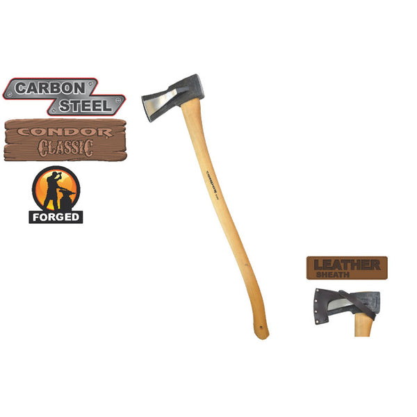 High Carbon Steel GS Splitting Axe by Condor