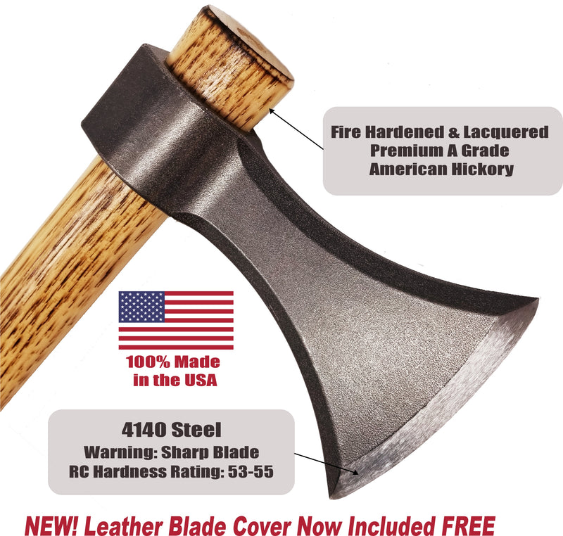 BLADED™ Throwing Axe w/Sheath - Made in USA