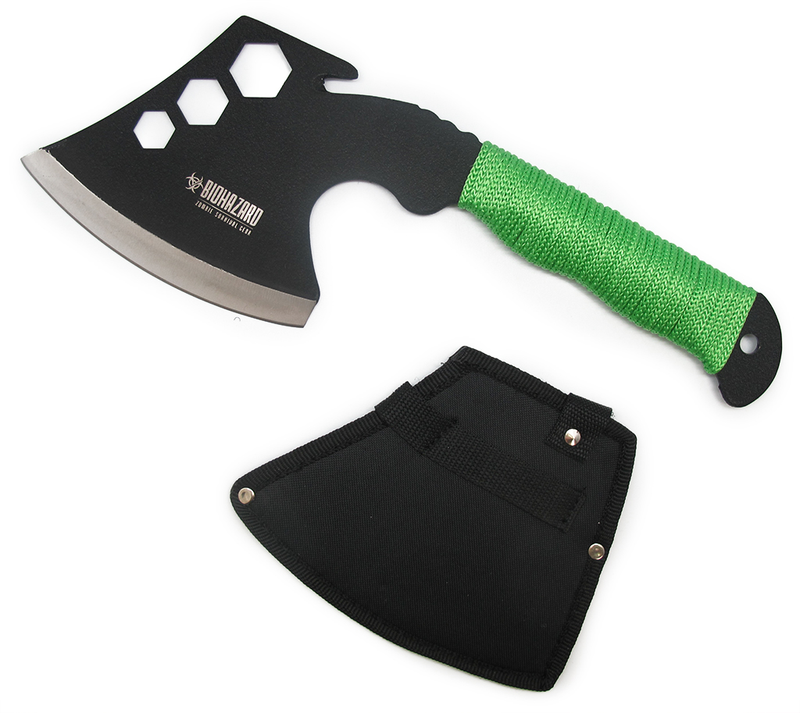 Multifunction Zombie Green Hiking & Backpacking Hatchet
