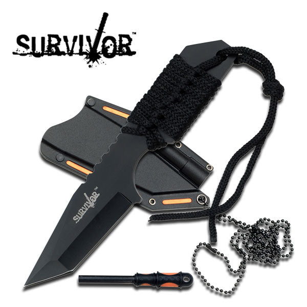 Neck Knife and Fire Starter