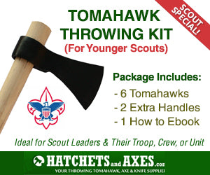"Scout Special! 16"" Hawk Throwing Kit - For Younger Scouts"