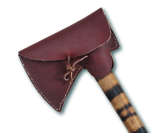 Top Grained Leather Poll Style Tomahawk Sheath