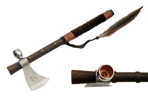 20 Inch Tomahawk Peace Pipe Axe