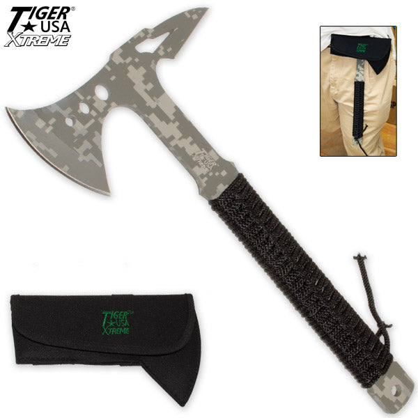 Camo Tactical Tomahawk with Sheath