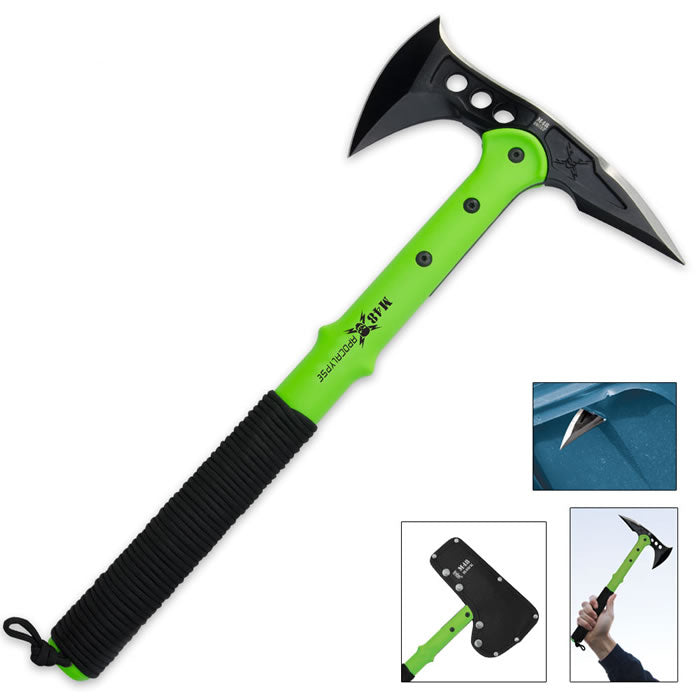 M48 United Cutlery Tactical Apocalypse Green Tomahawk Axe
