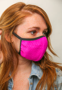 KNIT FACE MASK PINK