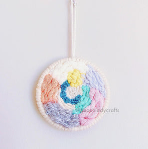 "3.5"" Fiber Handmade Circular Weaving Wall Hanging Home Decor Wall Decor Wall Art"