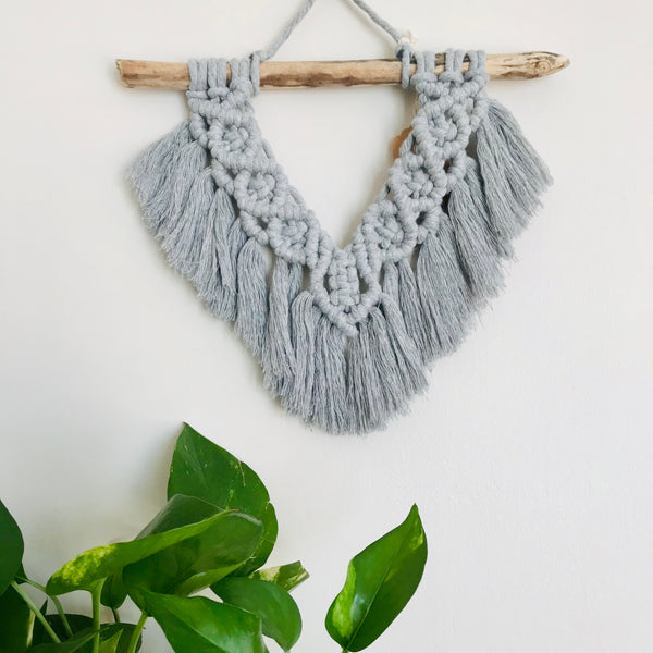 Boho V Fringe Handmade Macrame Wall Hanging | Home Decor | Home Goods