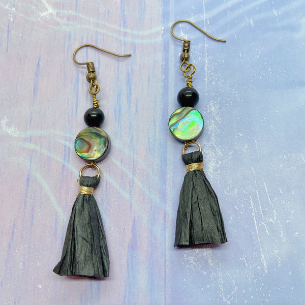 Beautifully Handmade Beads Stone Dangle Earrings