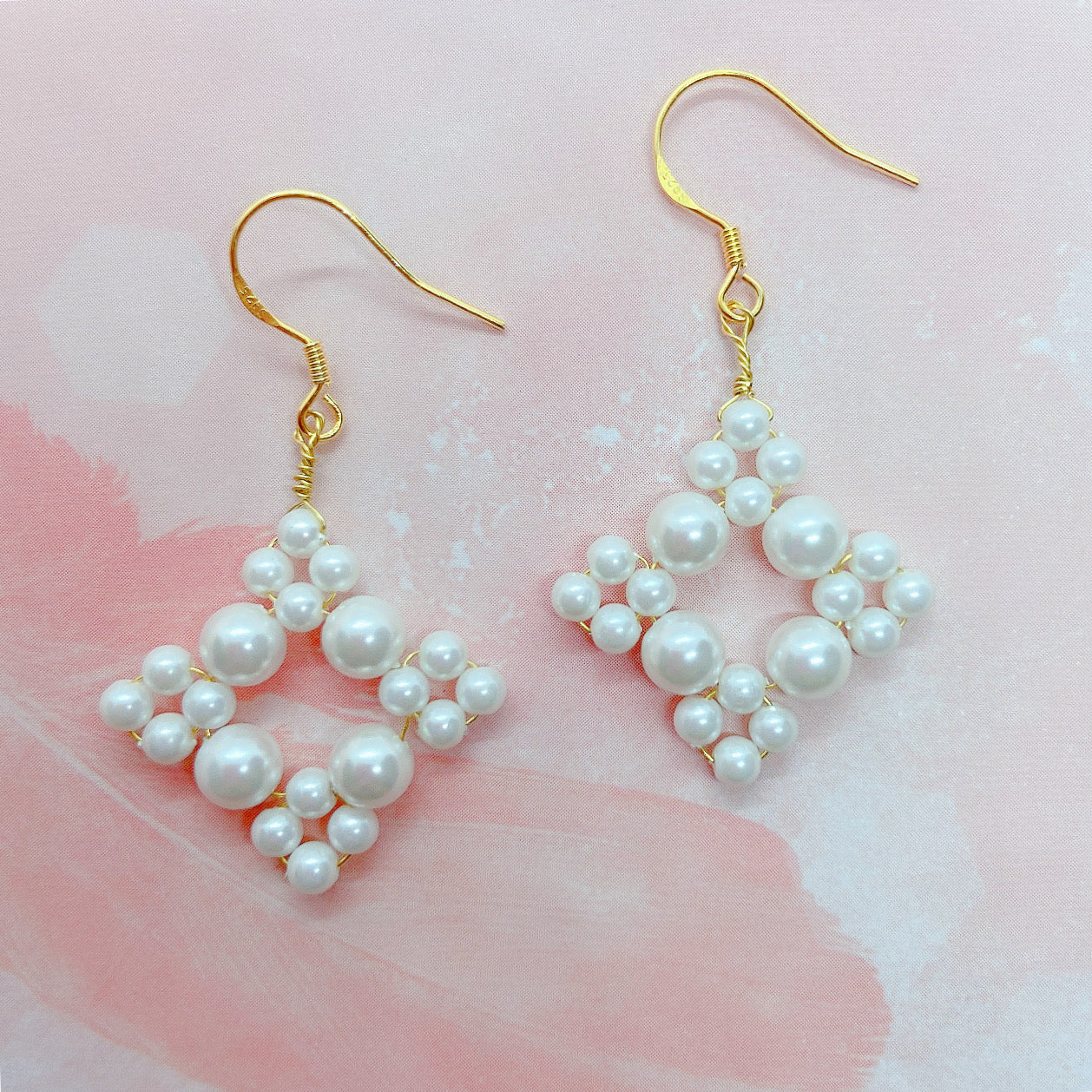 Beautiful Pearl Designed Handmade Earrings
