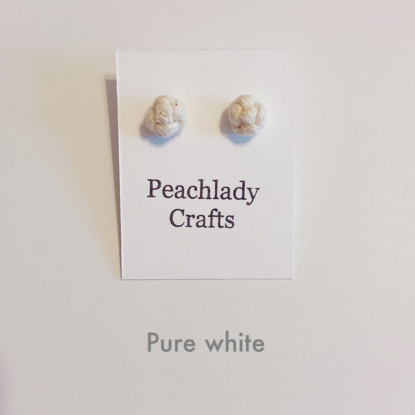 Peachlady Crafts Handmade Rosebud Ear Studs / Earrings