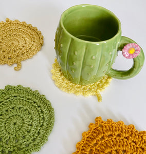 Handmade Crochet Leave Coasters | Home decor | Coasters | Kitchen accessories | Cup | Leaves