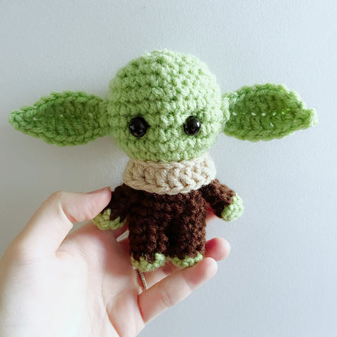 Handmade The Star Wars Baby Yoda Amigurumi Crocheted Toy