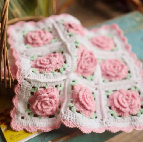 Handmade Crochet Rose Garden Cushion | Crochet | Cushion | Decoration | Home Decor | Decorative Pillows