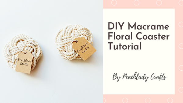 Craft supply macrame cords for Floral Coaster Set | Macrame DIY Kit | Cotton Cords Supply | Craft Supply | Handmade Supply | DIY Project