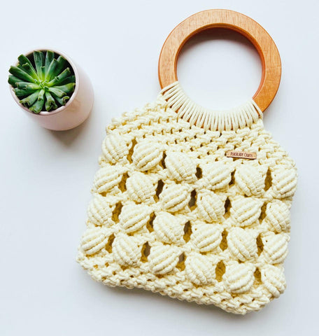 Handmade Shell Macrame Handbag | Purse | Bag