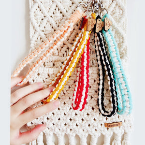 Wristband Keychain Ice-cream Colors Macrame DIY Material Kit (FREE tutorial video)
